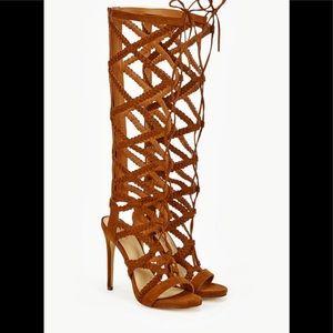 JustFab Vaudette Whiskey Gladiator Sandals